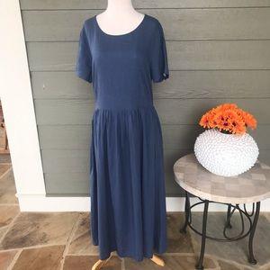 Younga Oversize Handmade Cotton and Linen Dress